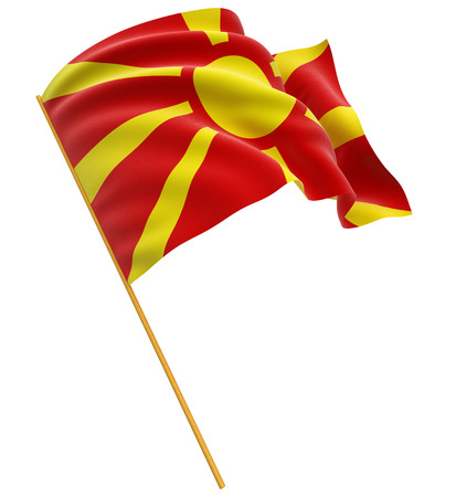 macedonian flag: 3D Macedonian flag Stock Photo