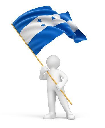 bandera honduras: El hombre y la bandera de Honduras