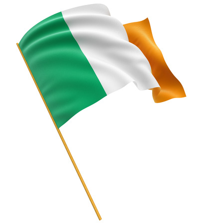 irish symbols: 3D Irish flag