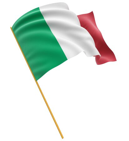 the italian flag: 3D italiano tracciato di ritaglio bandiera incluso