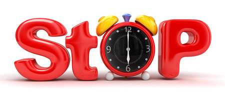 stop time: Stop time Stock Photo
