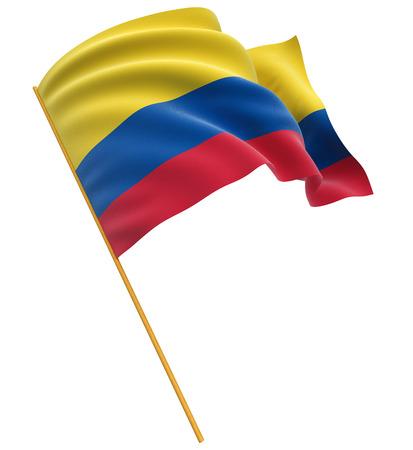 包括三維哥倫比亞國旗剪貼路徑 版權商用圖片