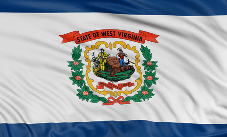 3D West Virginia  Flag photo