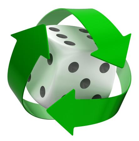 Recycle Dice photo