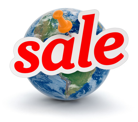 Globe and Sale  clipping path included  photo