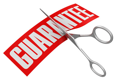 guarantor: Scissors and Guarantee  clipping path included
