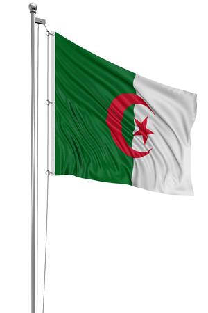 algerian flag: 3D Algerian flag