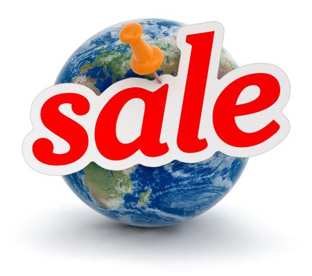 Globe and Sale  photo