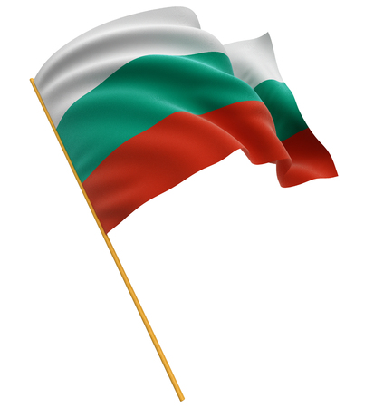 3D Bulgarian flag Stock Photo