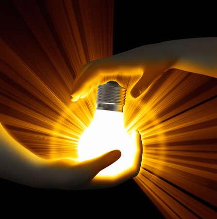 Light Bulb in hands Stock Photo - 22918608