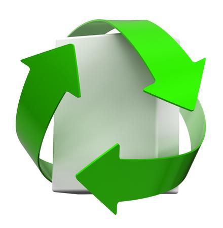 Recycle white box photo