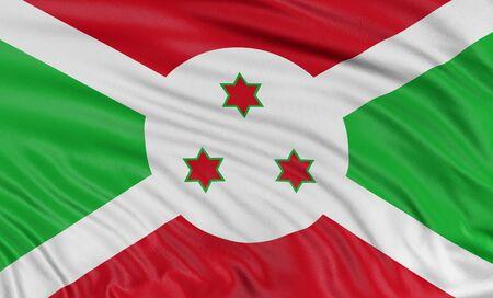 burundi: 3D Burundi flag