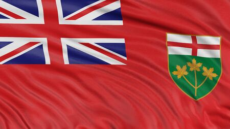 3D Ontario Flag Stock Photo