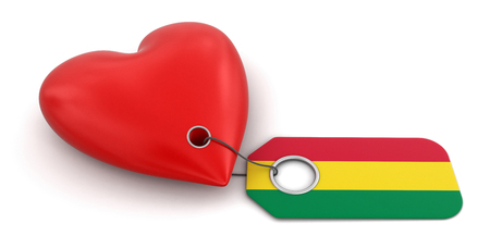bolivian: Heart with Bolivian flag