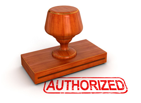 authorized: Rubber Stamp authorized