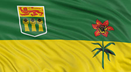 saskatchewan: 3D Saskatchewan  Flag Stock Photo
