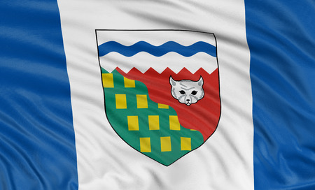 3D Northwest Territories  Flag Stock Photo - 23005951