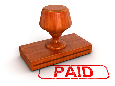 stamp of paid: Rubber Stamp Paid