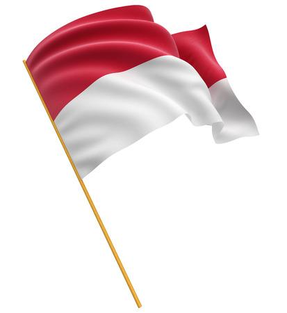 3D Indonesian flag Standard-Bild