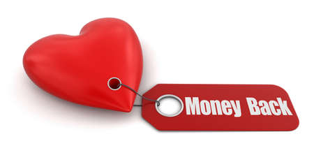 money back: Heart with label Money Back