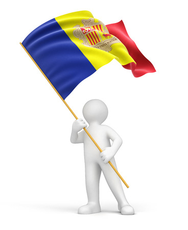 expressing positivity: Man and Andorran flag