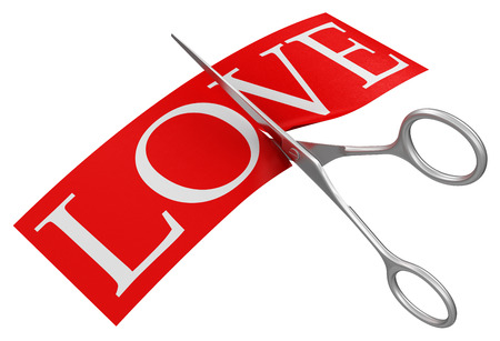 lovelorn: Scissors and Love  clipping path included
