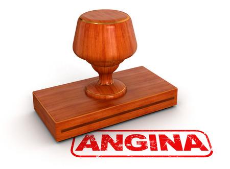 angina: Rubber Stamp trazado de recorte incluido angina