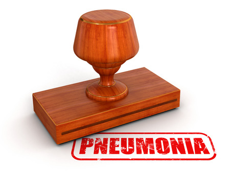 pneumonia: Rubber Stamp pneumonia   clipping path included  Stock Photo