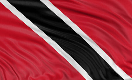national flag trinidad and tobago: 3D Trinidad and Tobago flag