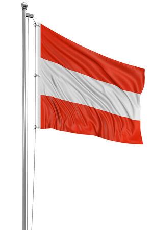 3D Austrian flag  photo