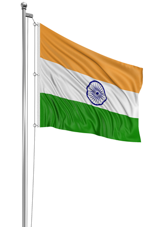 indian fabric: 3D Indian flag  clipping path included