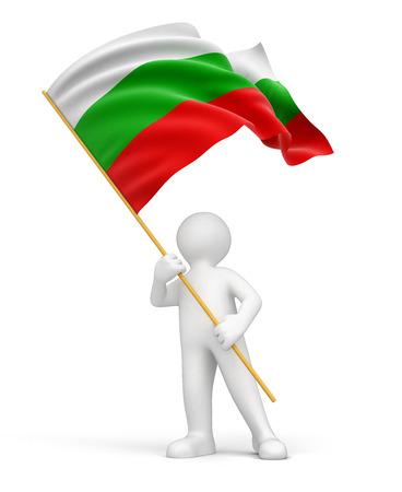 Homme et drapeau bulgare