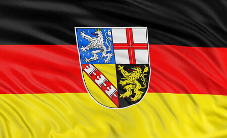 3D Saarland Flag photo