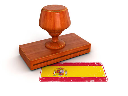 Rubber Stamp Spanish flag   photo