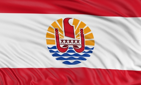 french polynesia: 3D French Polynesia flag