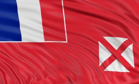wallis: 3D Flag of Wallis and Futuna Islands