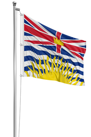 3D British Columbia  Flag photo