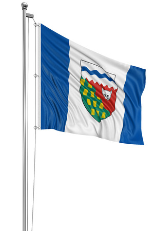 3D Northwest Territories  Flag photo