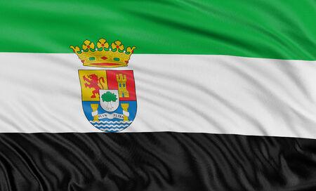 extremadura: 3D Extremadura flag