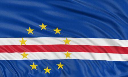 cape verde: 3D Cape Verde flag Stock Photo