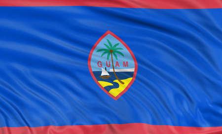 guam: 3D Guam  Flag Stock Photo