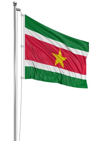 suriname: 3D vlag van Suriname