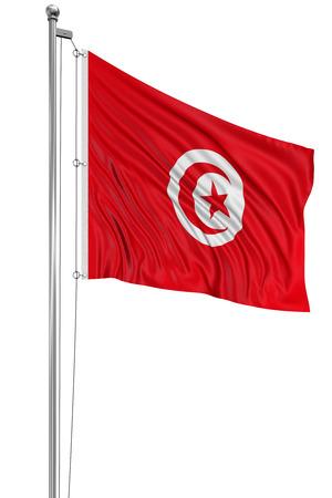 tunisian: 3D Tunisian flag Stock Photo