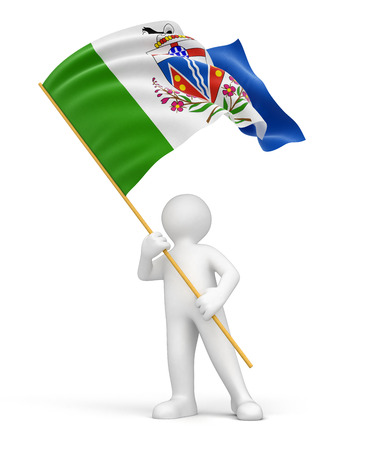yukon: Man and flag of Yukon  clipping path included