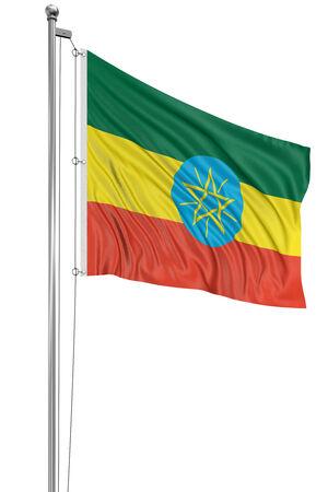 ethiopia flag: 3D Ethiopia flag