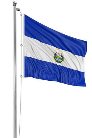 el salvador: 3D flag of El Salvador