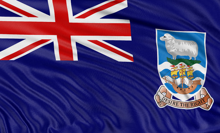 falkland: 3D Falkland Islands Flag Stock Photo