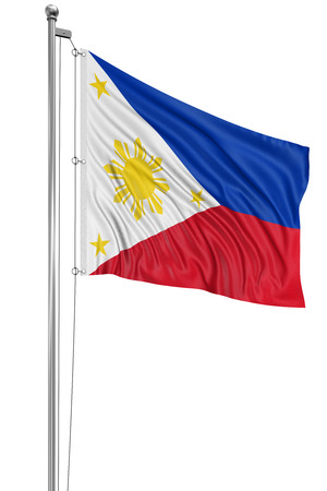 philippine: 3D flag of Philippines Stock Photo