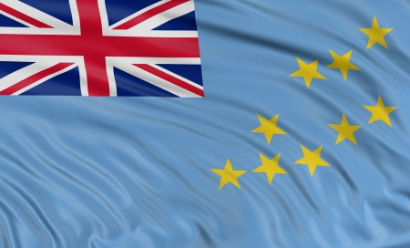 tuvalu: 3D Tuvalu flag