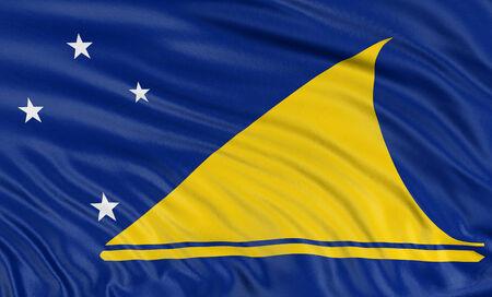 tokelau: 3D Tokelau flag Stock Photo